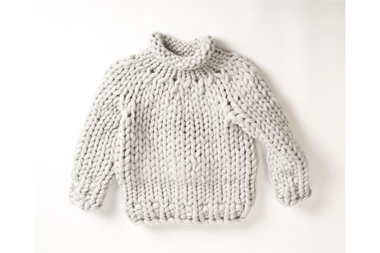 The sweater is made with a quarter-weight version of the wool. Photo by Pete Paterson.