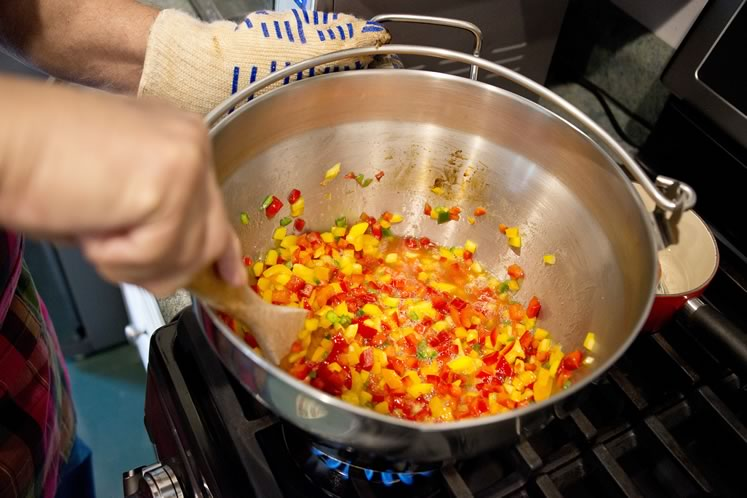 5Stir constantly over high heat and bring to a rolling boil. Photo by Pete Paterson.