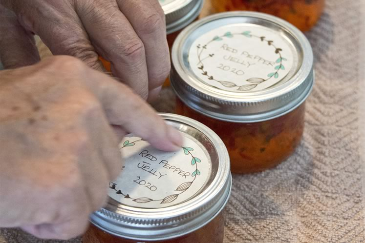 9Once cooled, check the lids for a good seal (see instructions). Label and enjoy your jelly! Photo by Pete Paterson.