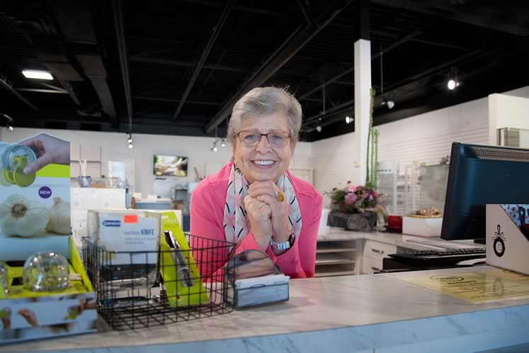 Sigrid Wolm may have closed her iconic kitchen store, but she's far from ready to retire. Photo by Rosemary Hasner / Black Dog Creative Arts.