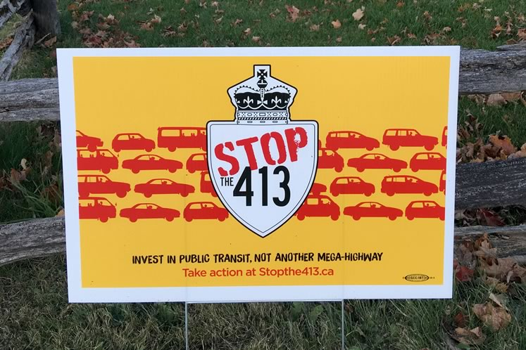 Stop the 413 signs are proliferating on Caledon roadsides.