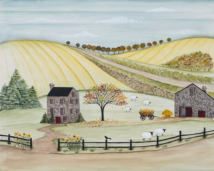 """Fall in Caledon 16"""" x 20"""" ~ by Mary Scattergood"""