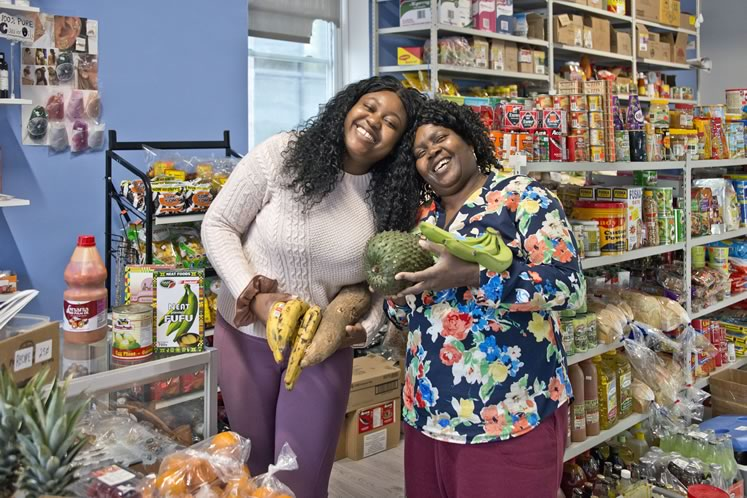Abigail and Doris Dapaah from The African Caribbean Grocery Store in Shelburne. Photo by Pete Paterson.