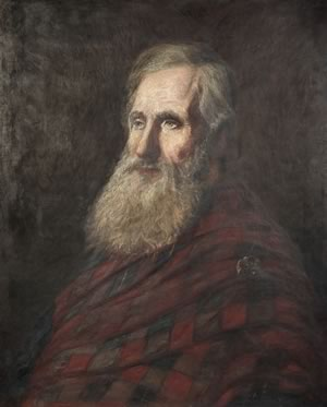 Alexander McLachlan (1818–96) In 1890, this portrait was presented to McLachlan at a tribute dinner. In 1967, it was reportedly found in rubble behind the furnace at the Orangeville Public Library.