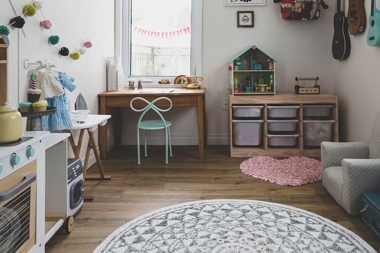 Lilliputian delights fill Abby's playroom. Photo by Erin Fitzgibbon.