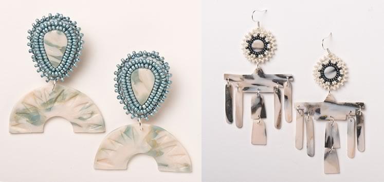 Original designs by jewelry maker Kristin Evensen. Photo by Pete Paterson.