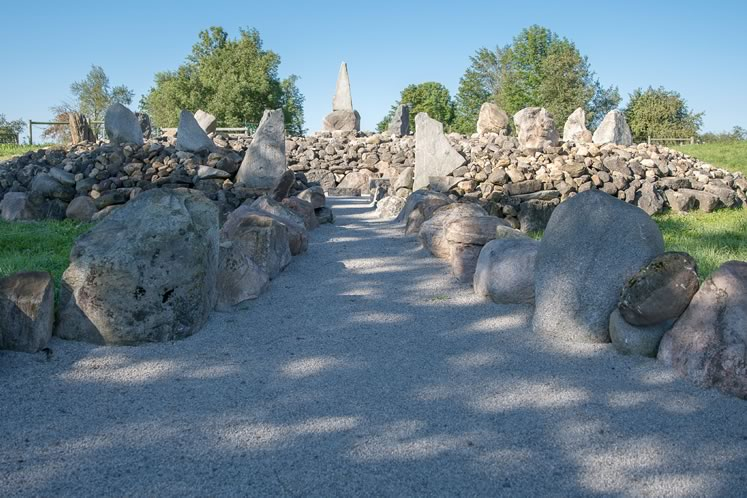 A stone circle Joe Burchell carefully erected on his Caledon property. He transported many of the stones when he moved from the Eastern Townships in Quebec. Photo by Kerry Knudsen.