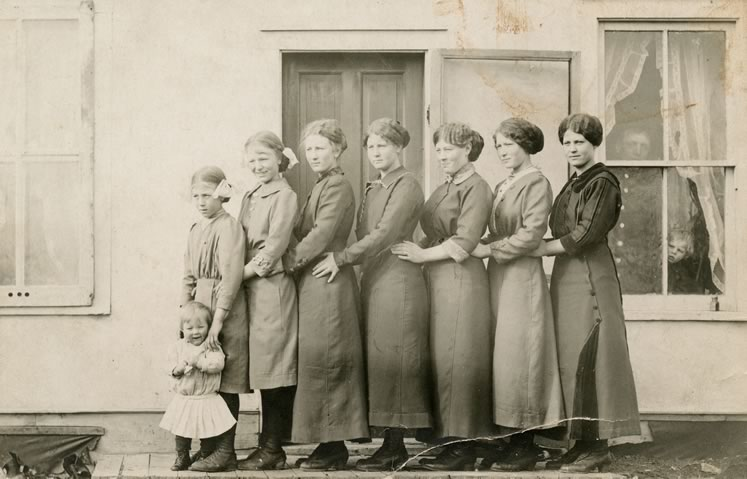 Neela was one of the eight daughters (centre) and one son of Grierson's great, great grandparents.
