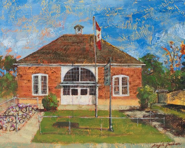 "Alton Schoolhouse 16"" x 20"" acrylic ~ by Kayla Jackson"