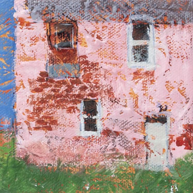 "Glimpses Pink 4"" x 4"" acrylic ~ by Kayla Jackson"