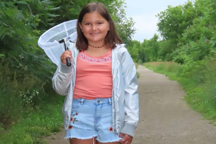 In 2020, young naturalist Taya Marsala spotted an Arctic skipper, rare in Headwaters. Photo by Rosemary Hasner / Black Dog Creative Arts.