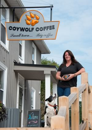Ariel Somes at her new Coywolf Coffee in Inglewood. Photo by Pete Paterson.